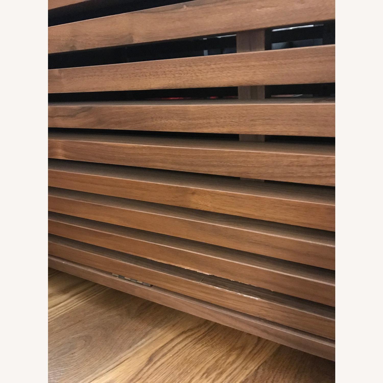 West Elm Slatted Wood Storage Coffee Table - image-4
