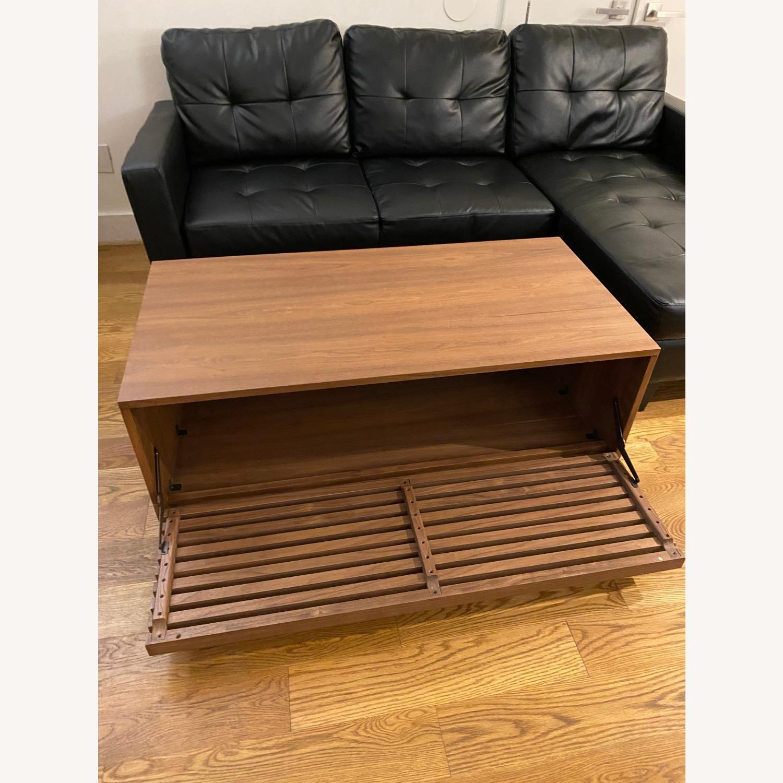 West Elm Slatted Wood Storage Coffee Table - image-6