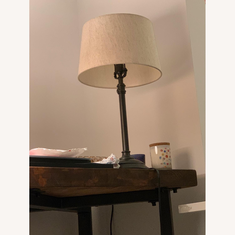 Pottery Barn Metal Adjustable Table Lamp - image-1