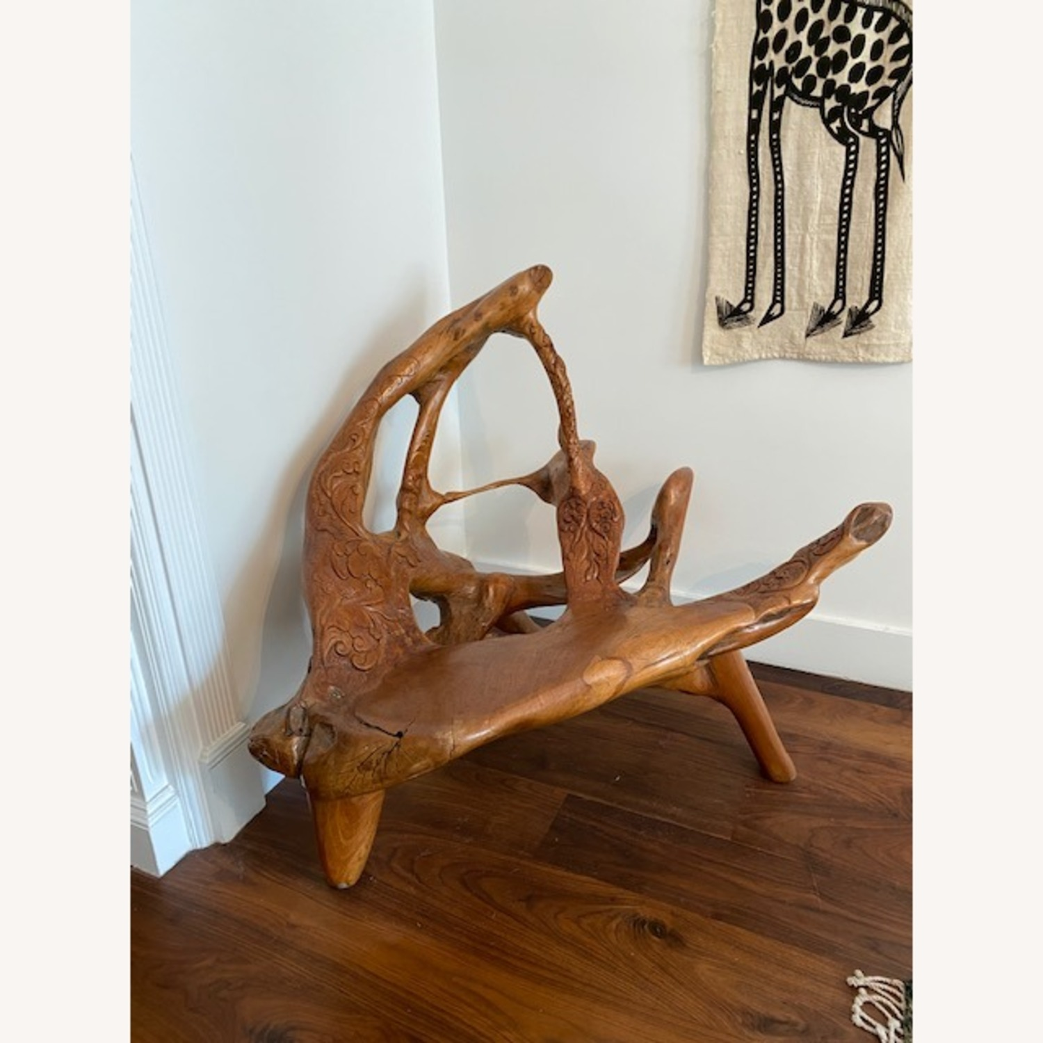 Organic Beautifully Carved Chair Sculpture - image-1