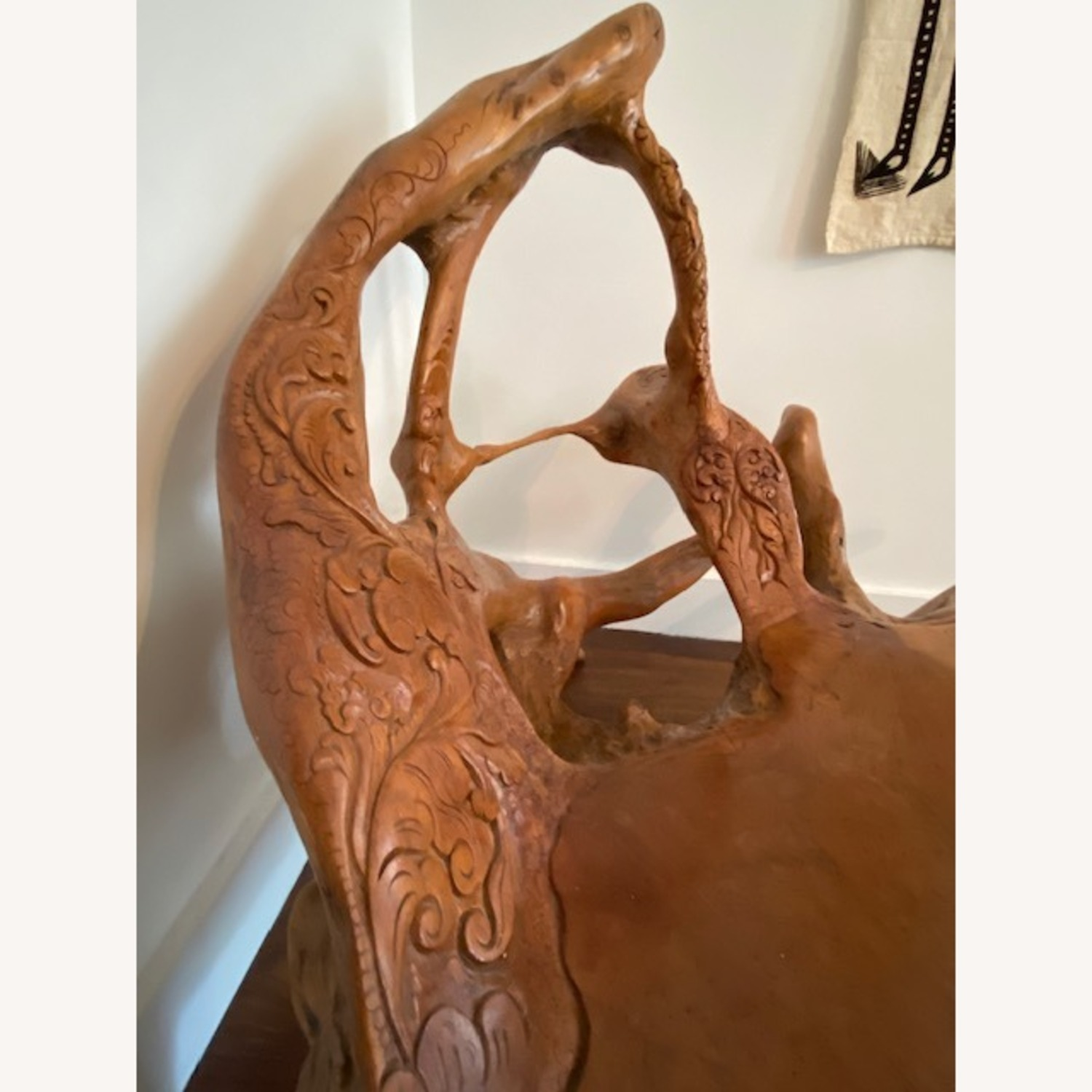 Organic Beautifully Carved Chair Sculpture - image-5