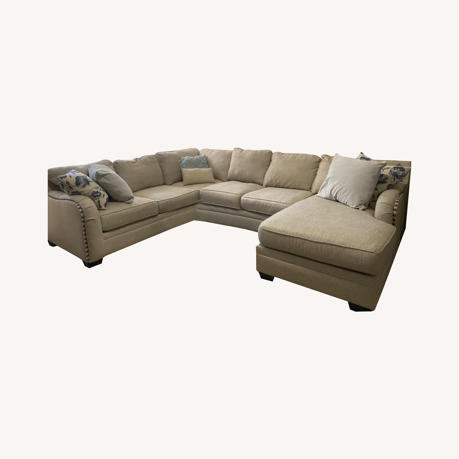 Ashley Home Luxora Beige 4-Piece Sectional Sofa - image-0