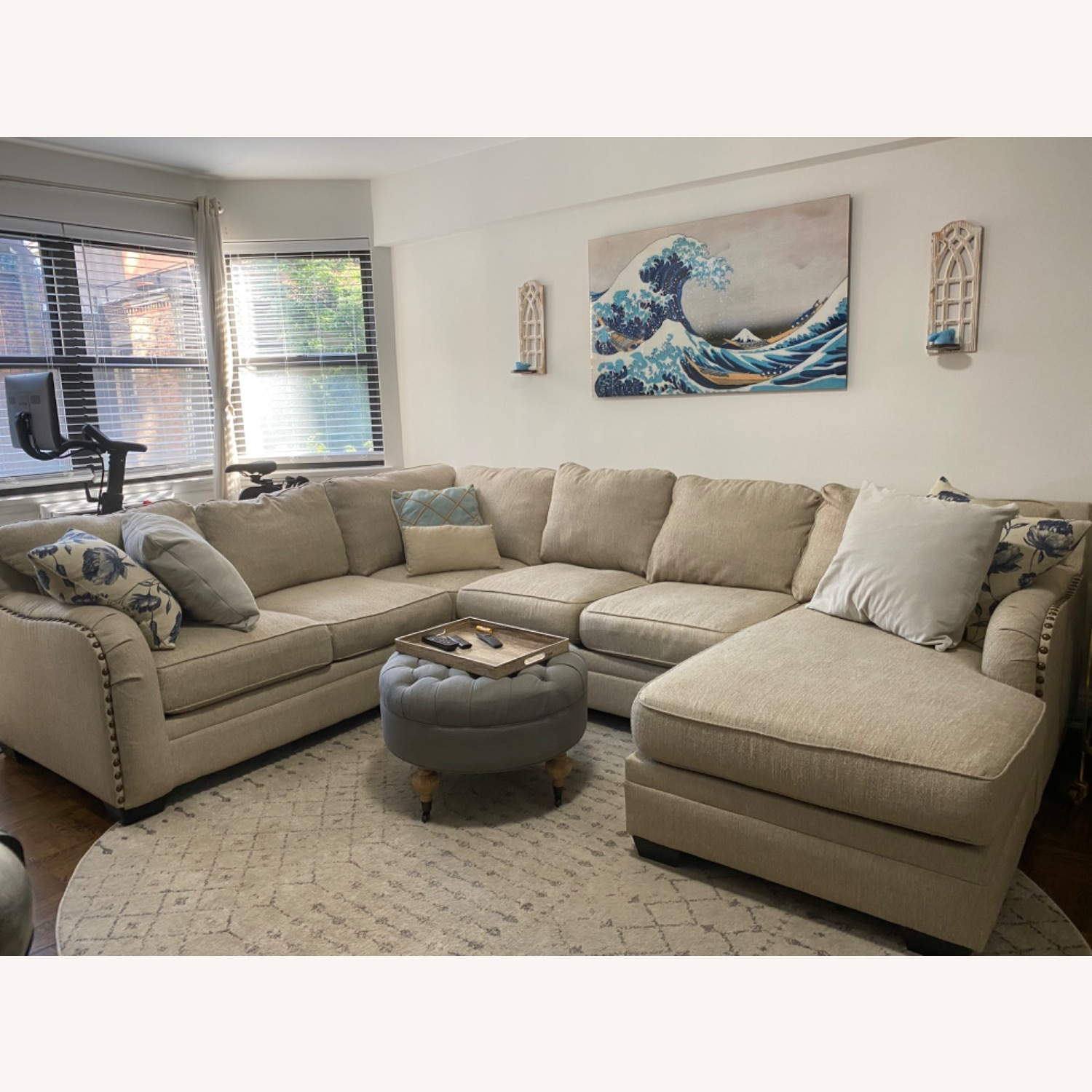 Ashley Home Luxora Beige 4-Piece Sectional Sofa - image-1