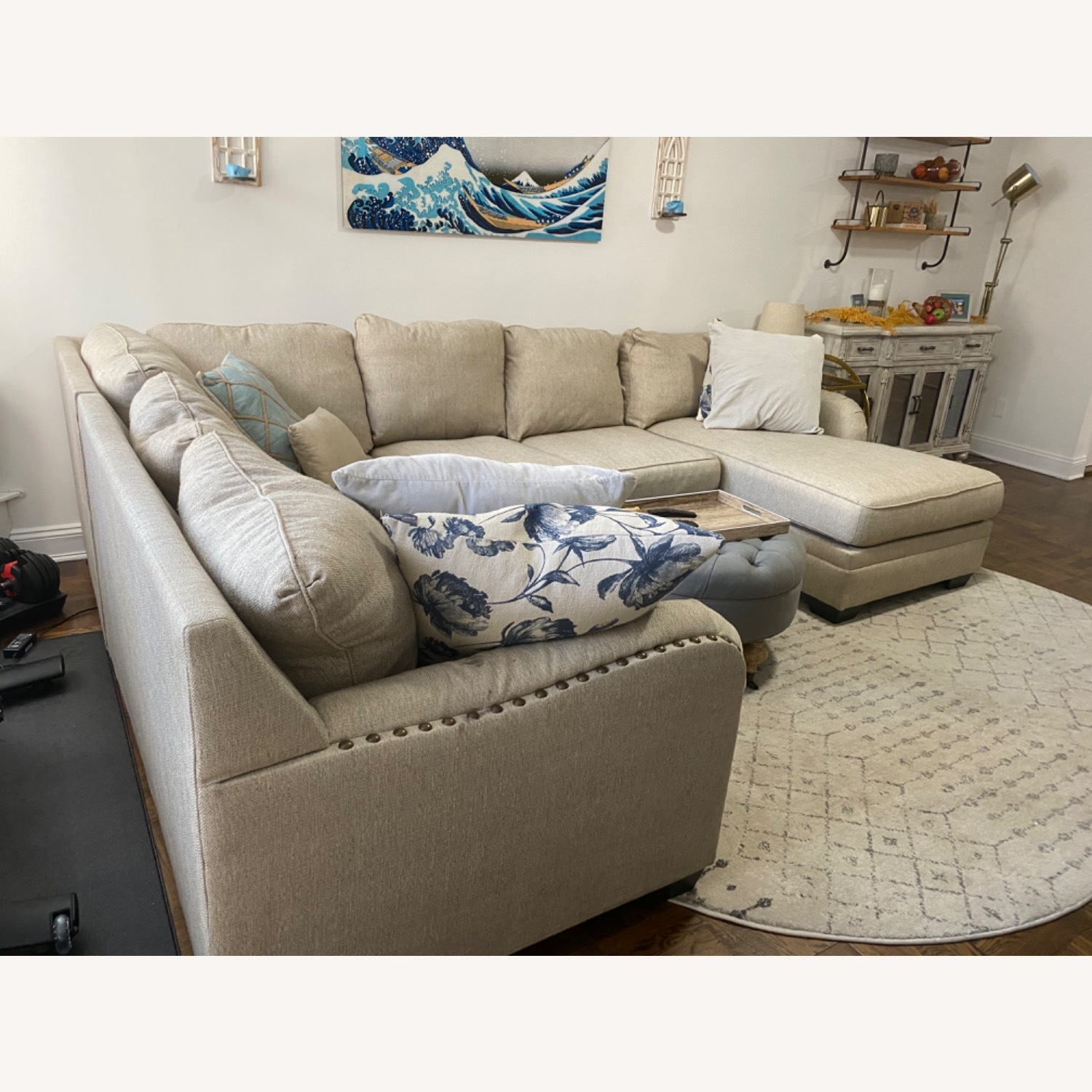 Ashley Home Luxora Beige 4-Piece Sectional Sofa - image-3