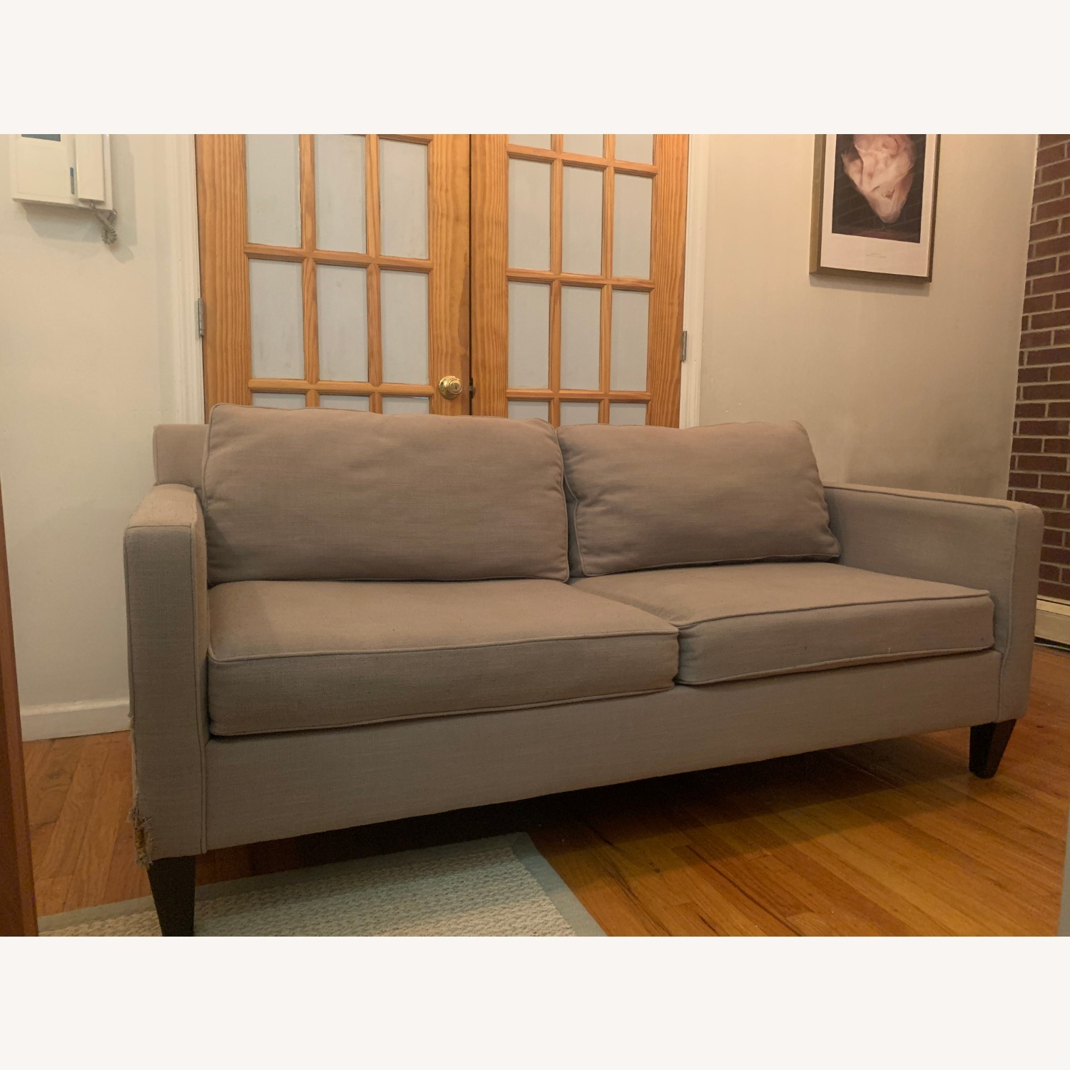 West Elm Grey Sofa - image-0