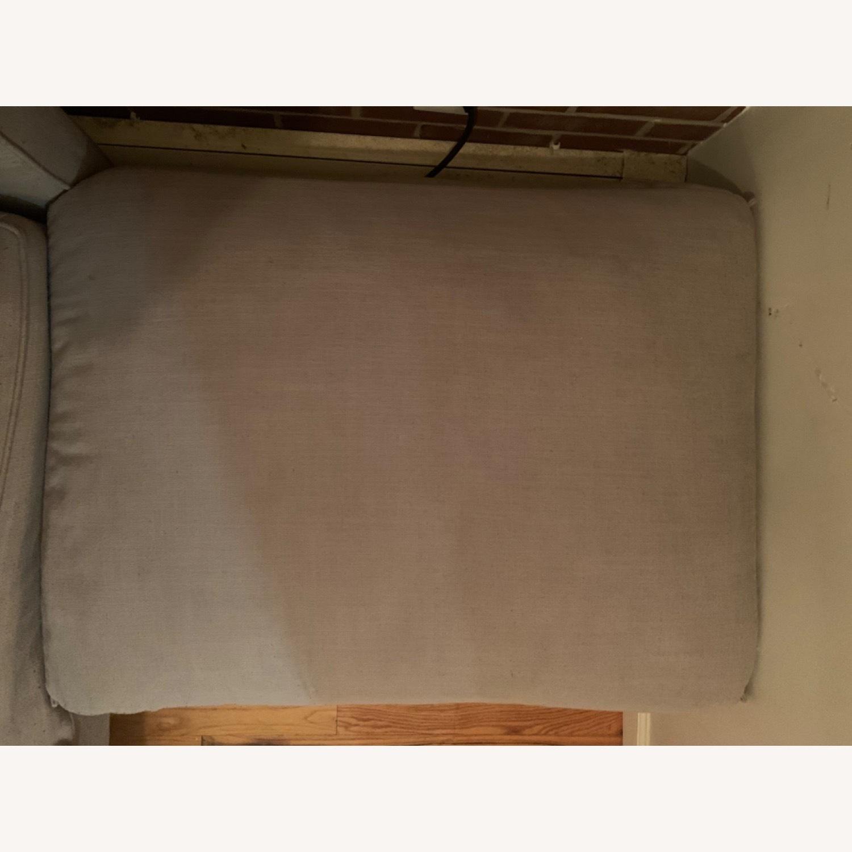 Room & Board Light Grey/Gray Plush Ottoman - image-6