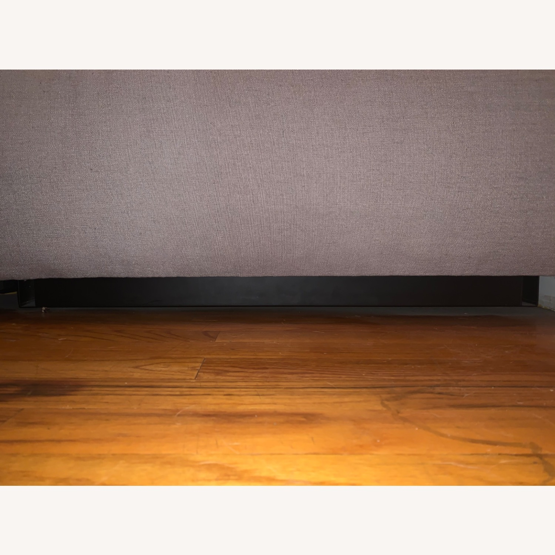 Room & Board Light Grey/Gray Plush Ottoman - image-4