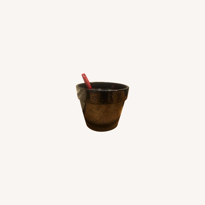 Ceramic Planter with Saucer - image-0