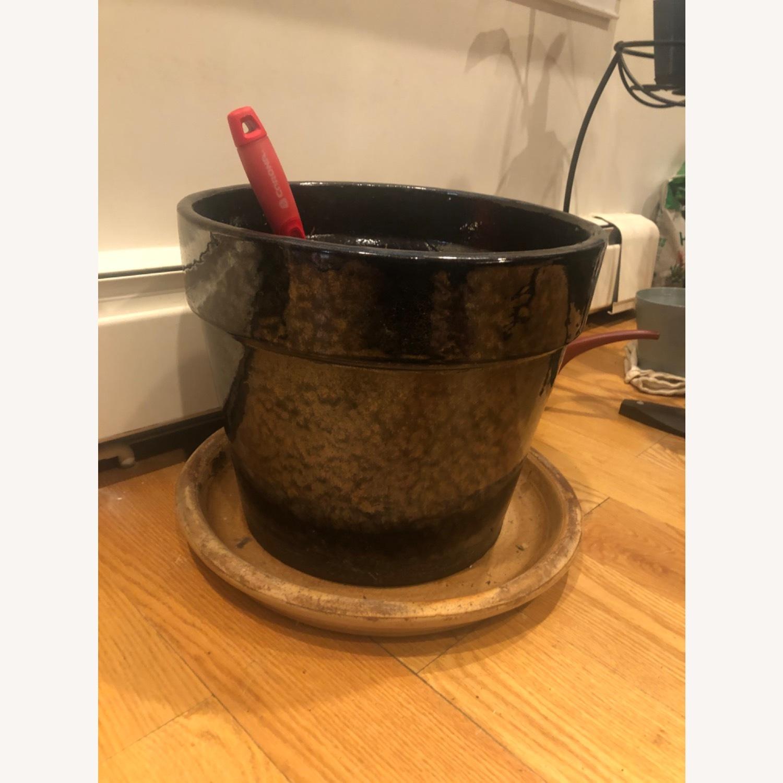 Ceramic Planter with Saucer - image-2