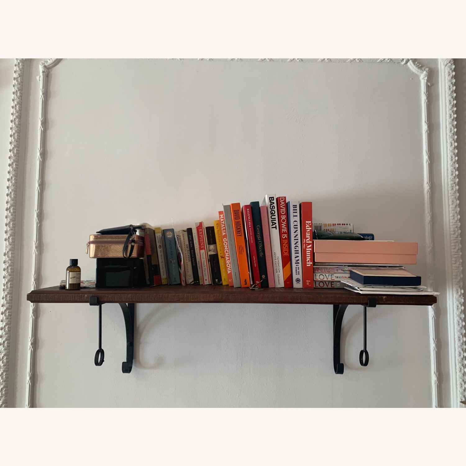 Pottery BarnWall-Mount Wood Shelf with Metal Clothes Rod, 4' - image-2