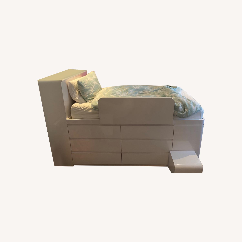 High Gloss Twin Loft Bed - image-0
