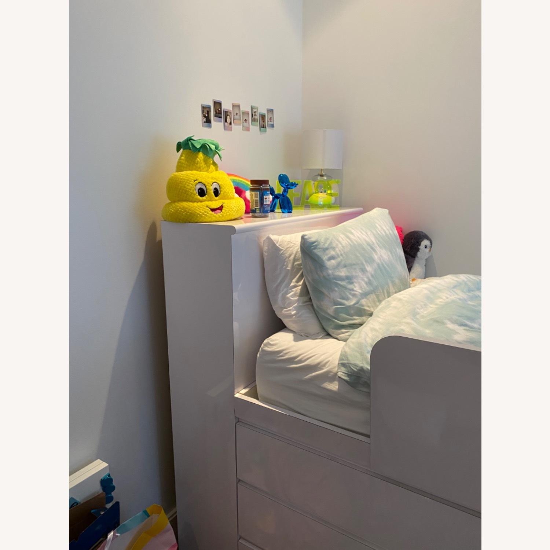 High Gloss Twin Loft Bed - image-2