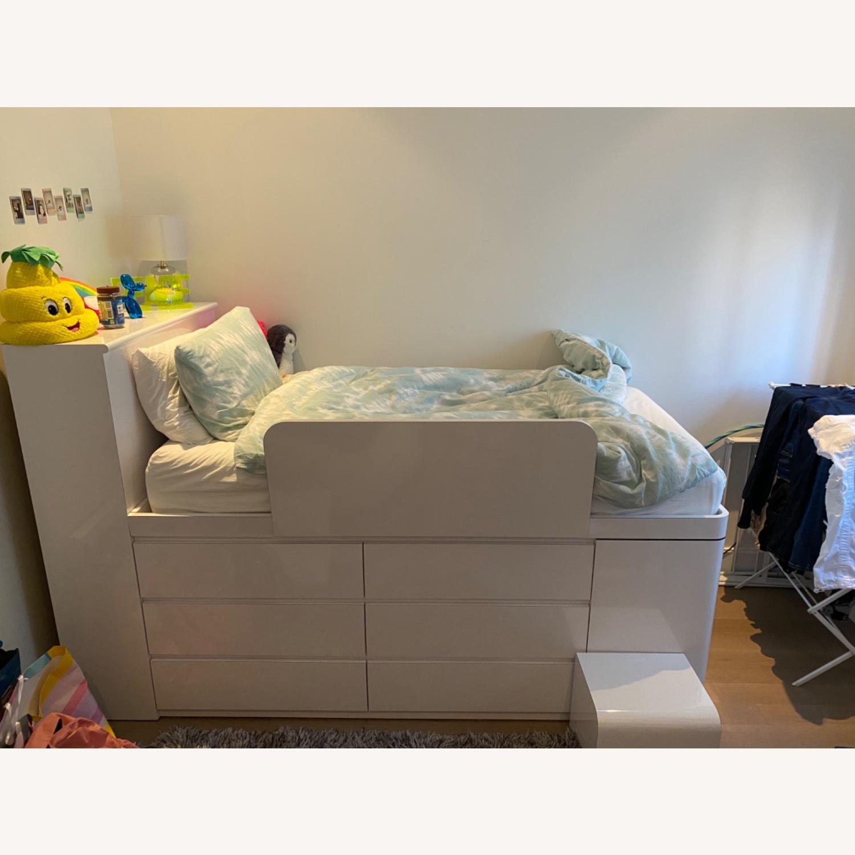 High Gloss Twin Loft Bed - image-1
