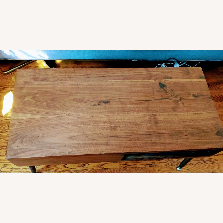 Solid Dark Walnut Mid Century Style Coffee Table - image-2