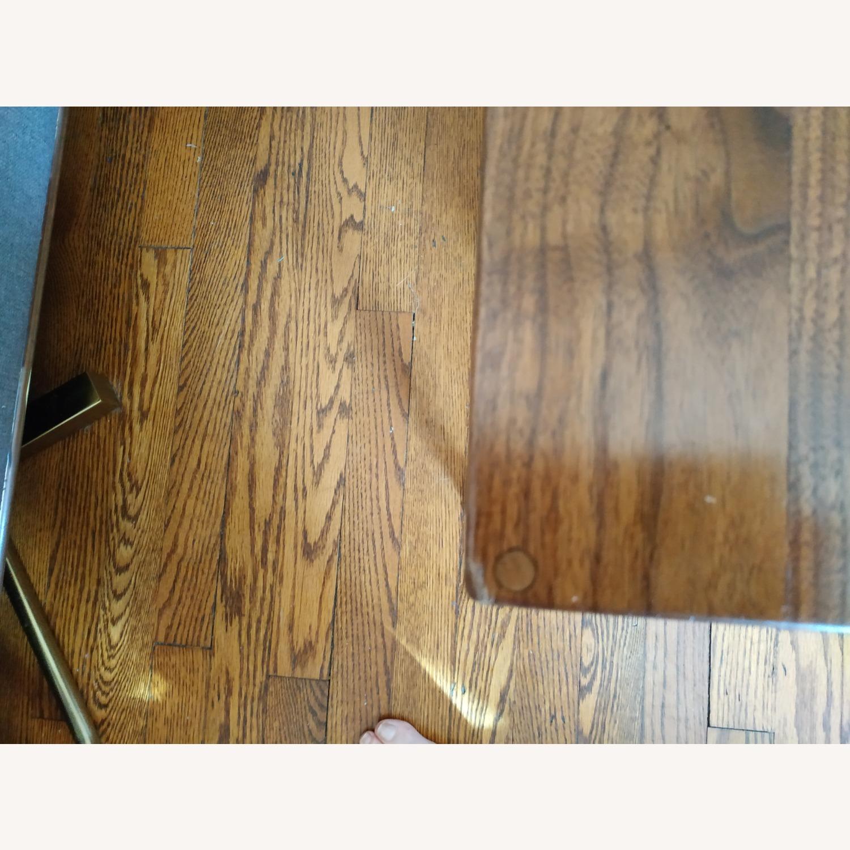 Solid Dark Walnut Mid Century Style Coffee Table - image-3