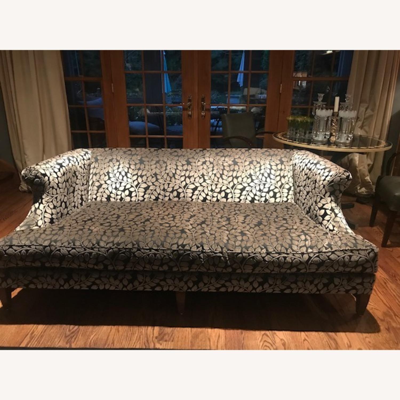 Taylor Made Custom Designed Cut Velvet Gray Black Sofa - image-2