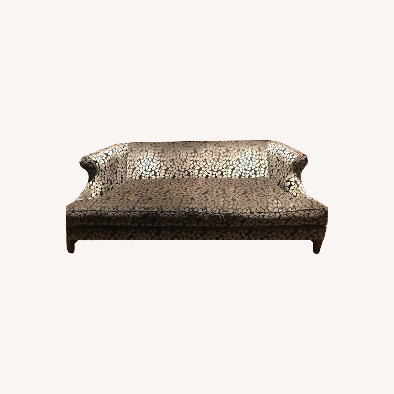 Taylor Made Custom Designed Cut Velvet Gray Black Sofa - image-0