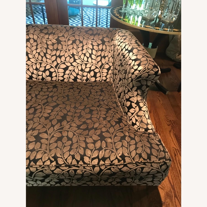 Taylor Made Custom Designed Cut Velvet Gray Black Sofa - image-4