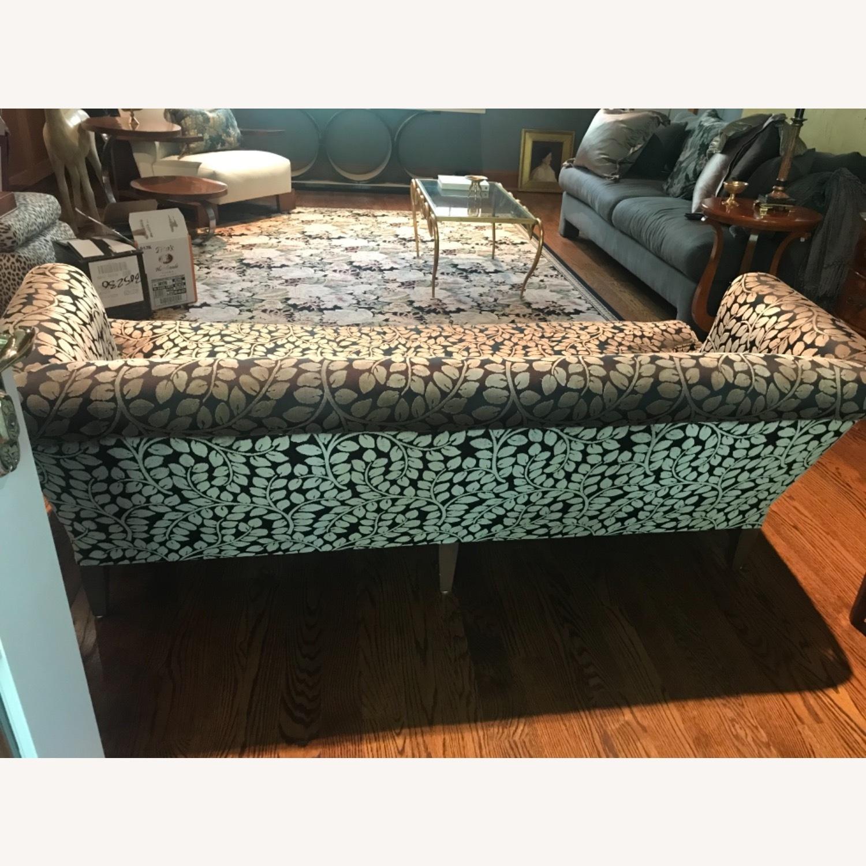 Taylor Made Custom Designed Cut Velvet Gray Black Sofa - image-6