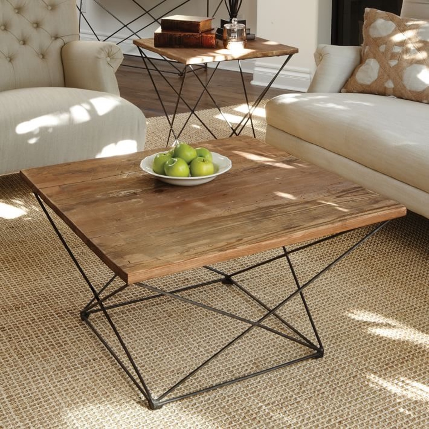 West Elm Reclaimed Wood Coffee Table - image-1