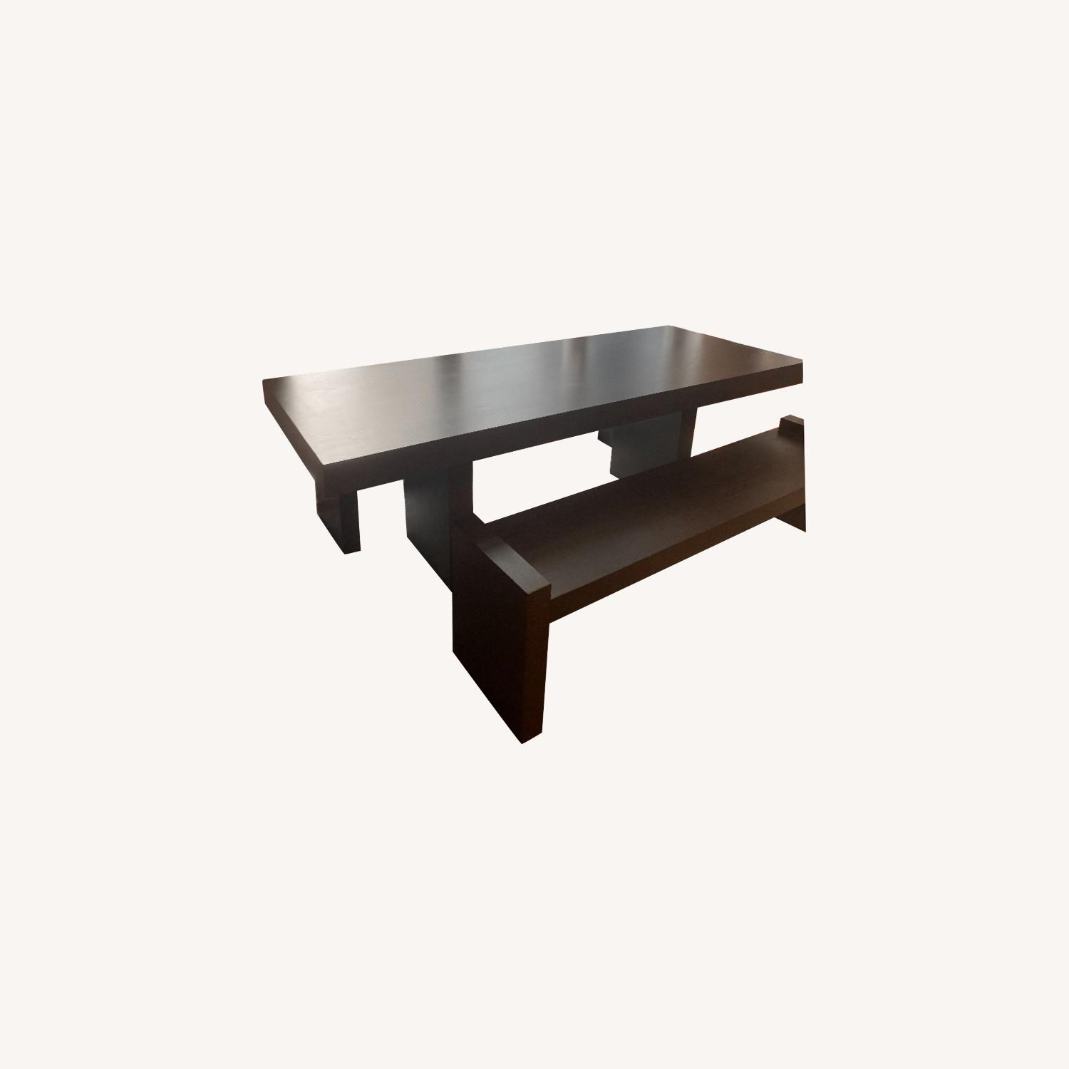 West Elm Terra Dining Table and 2 Benches - image-0