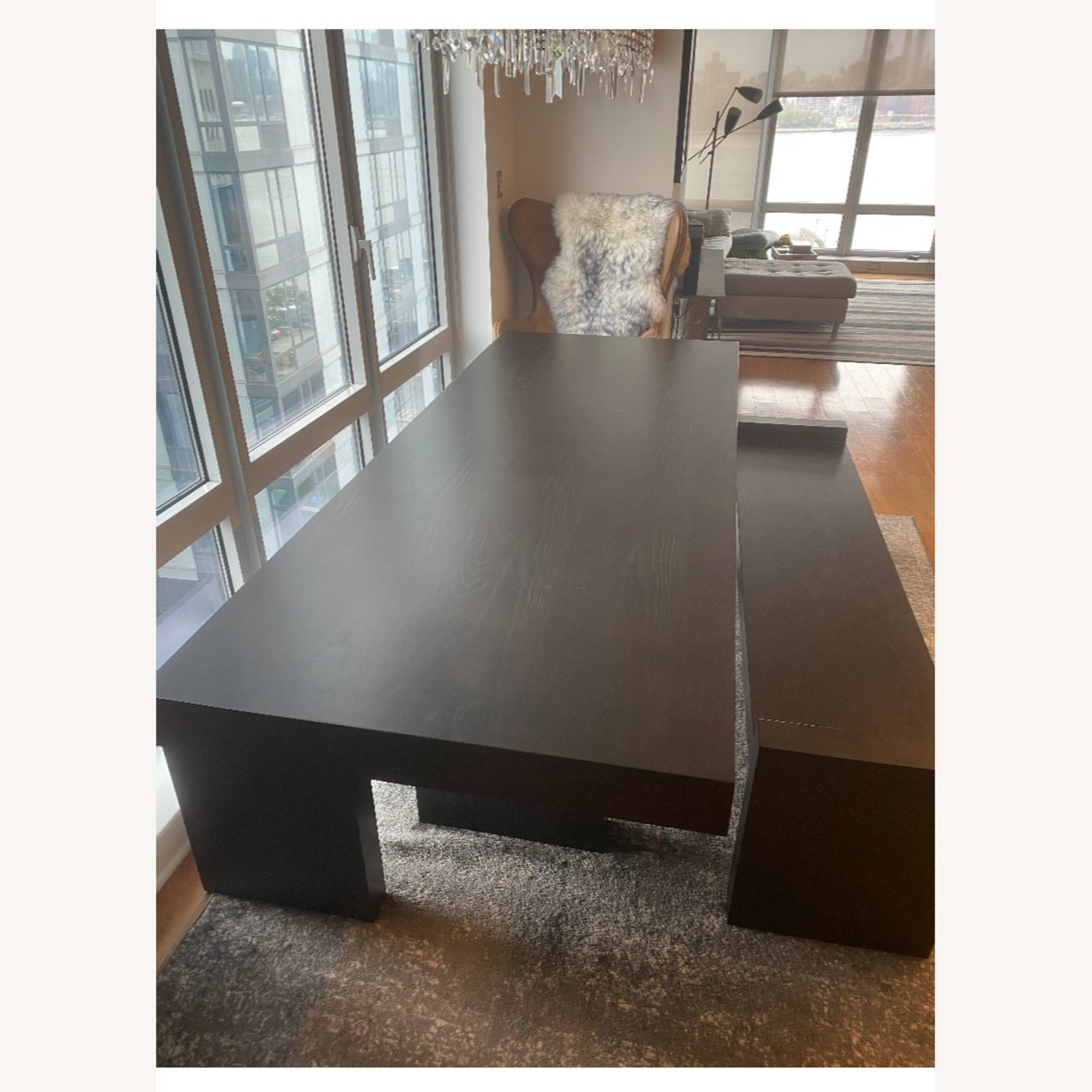 West Elm Terra Dining Table and 2 Benches - image-5