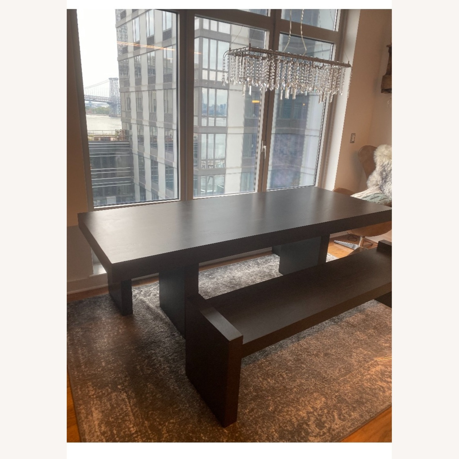 West Elm Terra Dining Table and 2 Benches - image-1