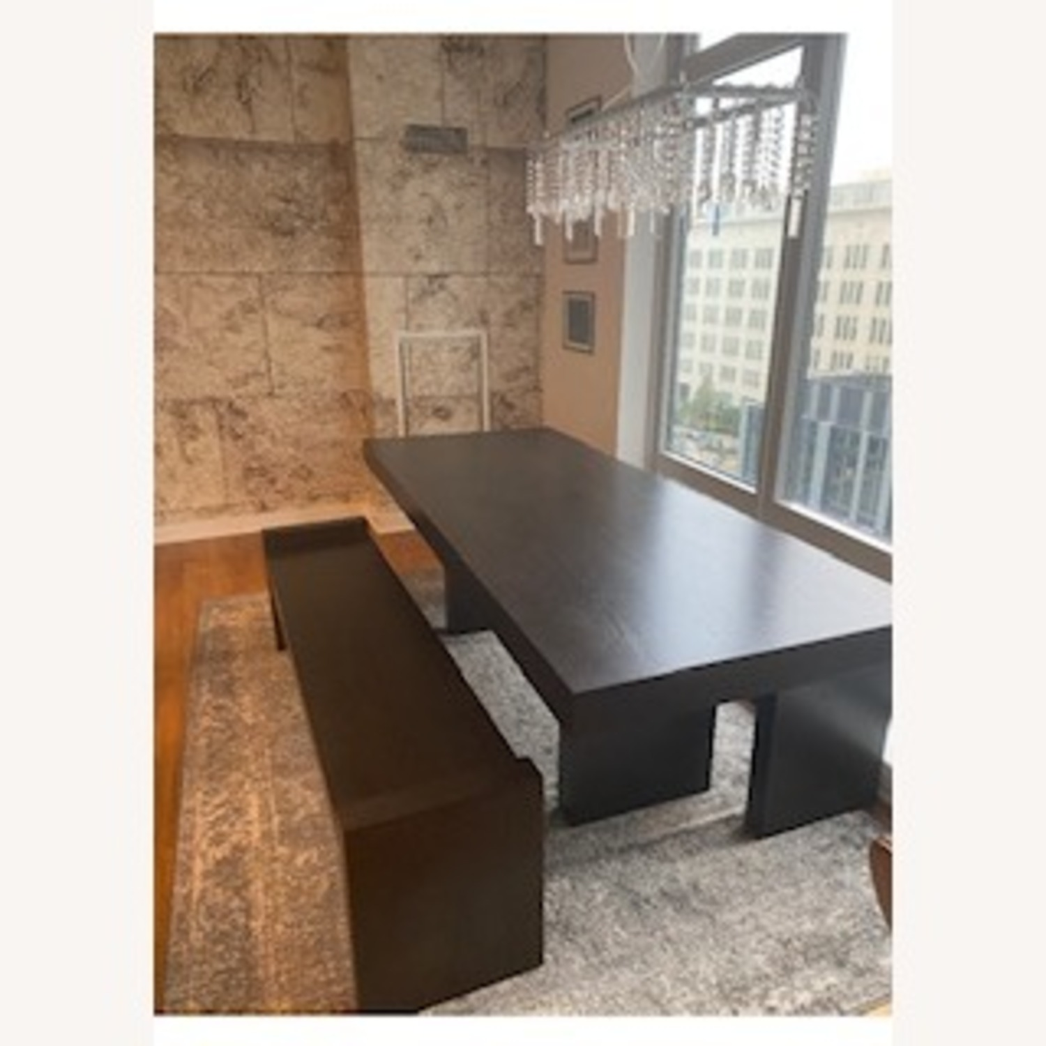 West Elm Terra Dining Table and 2 Benches - image-2