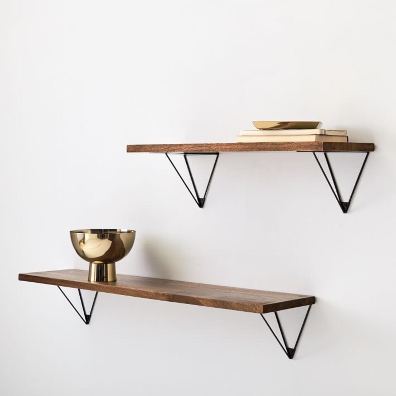 West Elm Reclaimed Wood Floating Shelves (3) - image-1