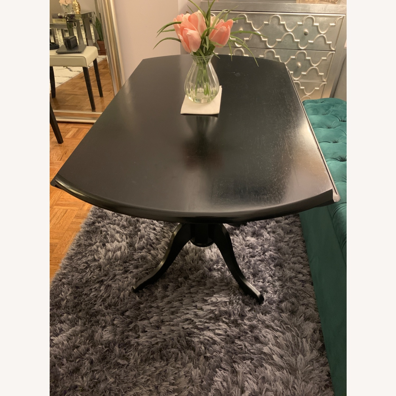 Round Drop Leaf Dining Table Set - image-8