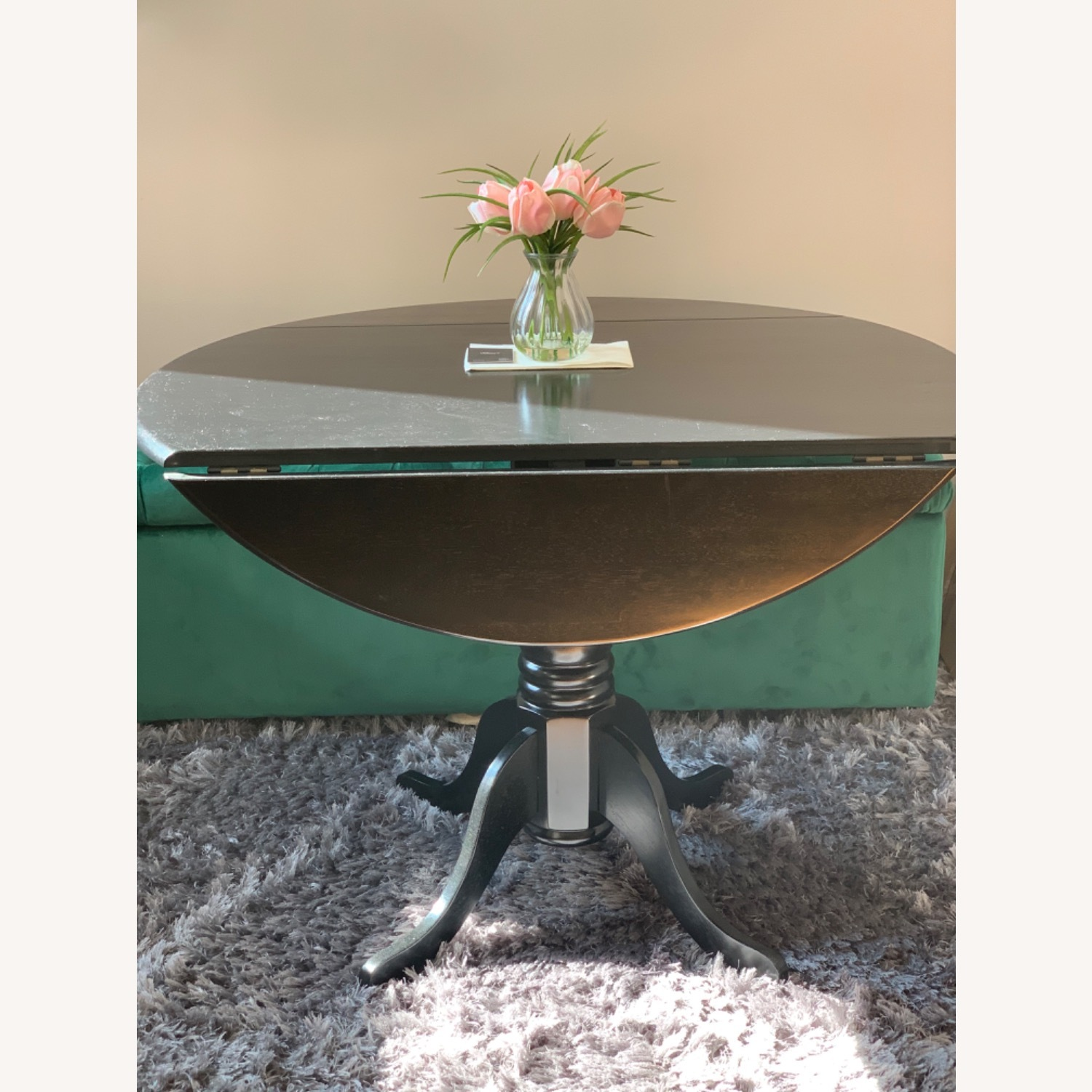 Round Drop Leaf Dining Table Set - image-3