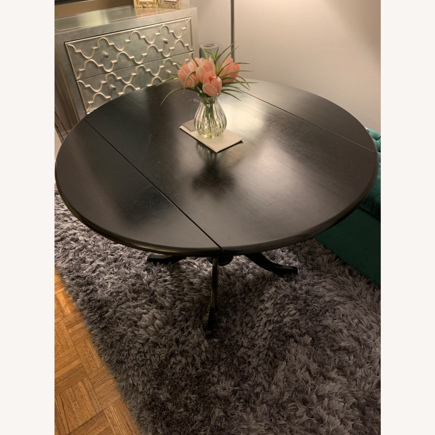 Round Drop Leaf Dining Table Set - image-7