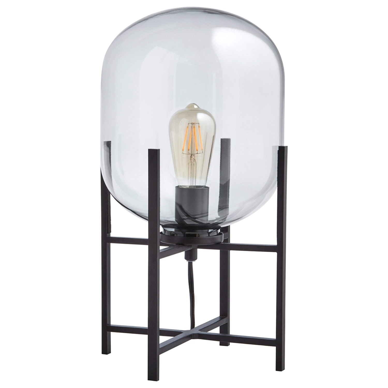 Rivet Modern Industrial Glass Metal Desk Lamp - image-1