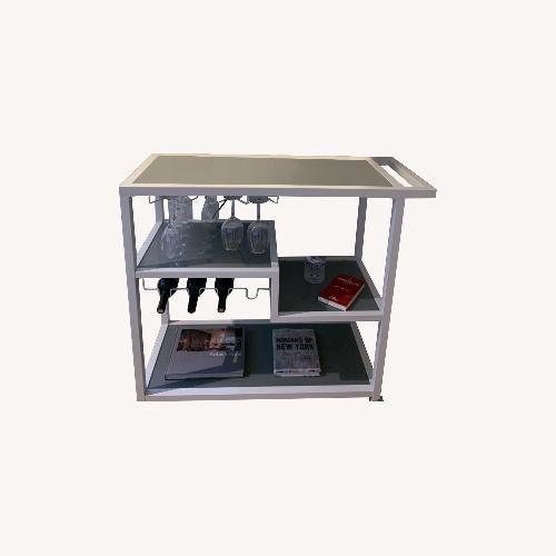 Used Mercury Row Bar cart with Glassware Storage for sale on AptDeco