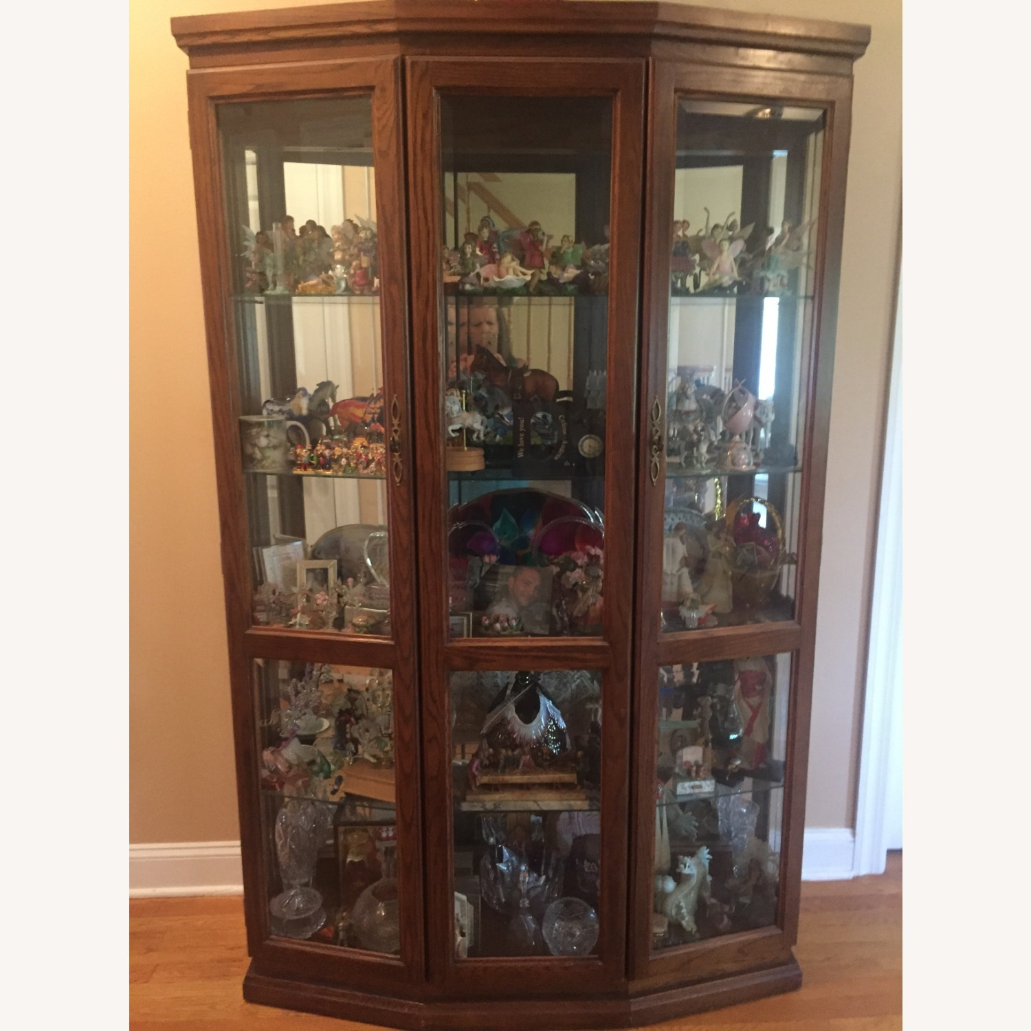 Lighted Curio Cabinet - image-0