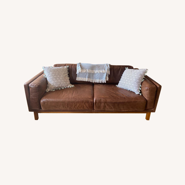 West Elm Dekalb Sofa - Saddle - image-0