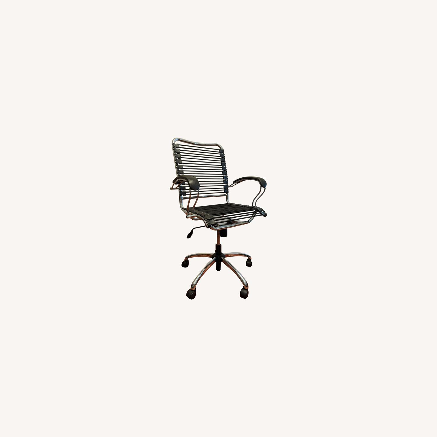 Modern Bungee Desk Chairs with Chrome Accents - image-0