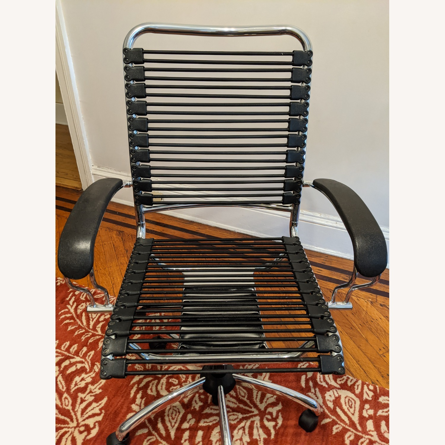 Modern Bungee Desk Chairs with Chrome Accents - image-2