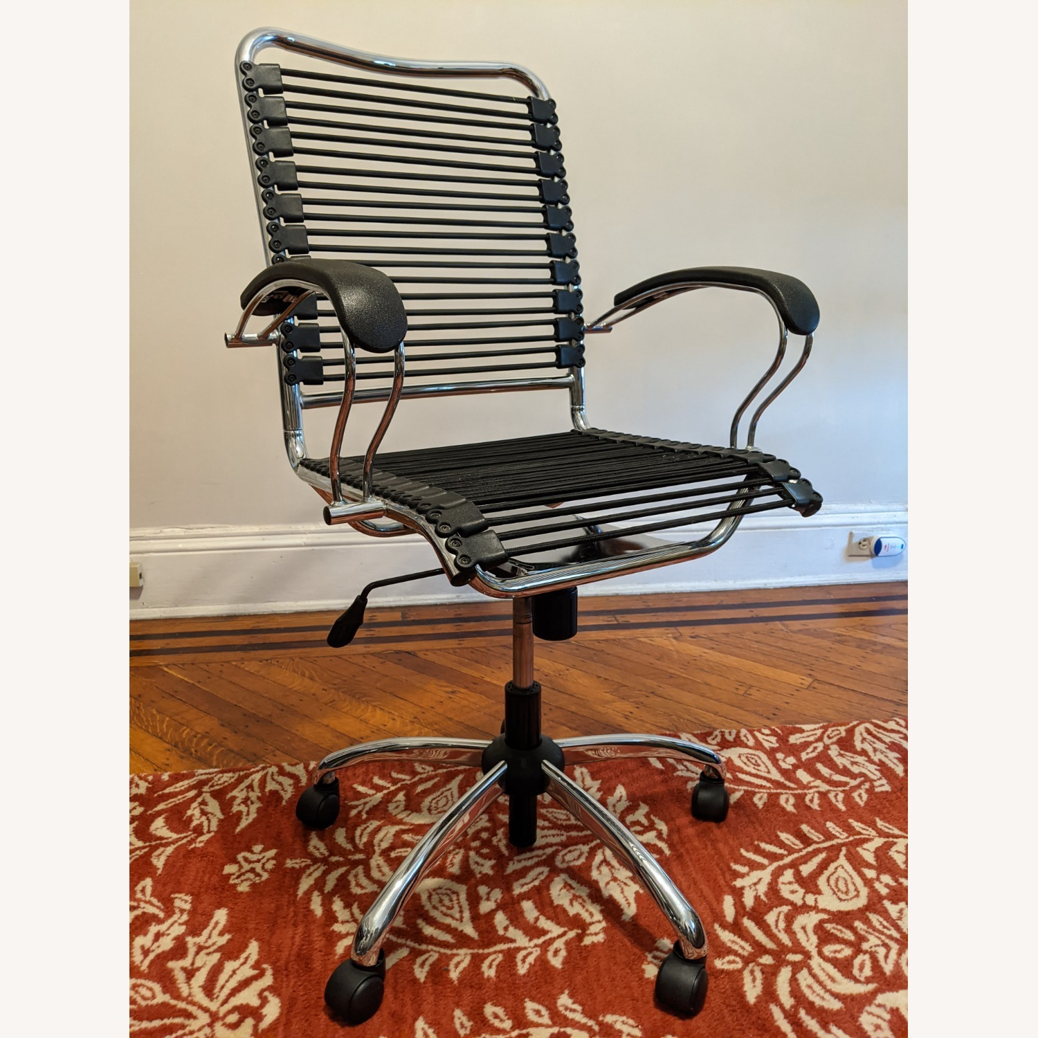 Modern Bungee Desk Chairs with Chrome Accents - image-1