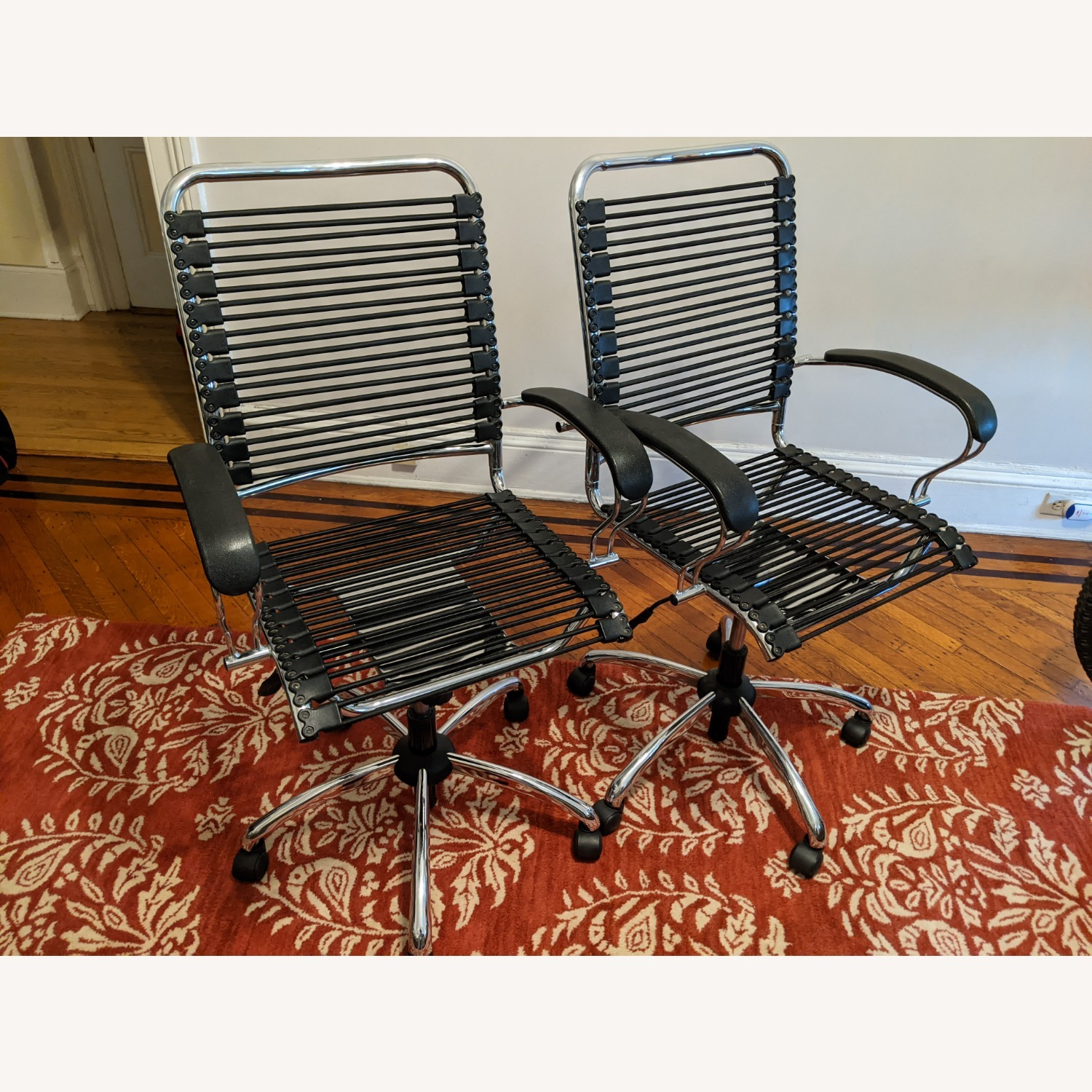 Modern Bungee Desk Chairs with Chrome Accents - image-4