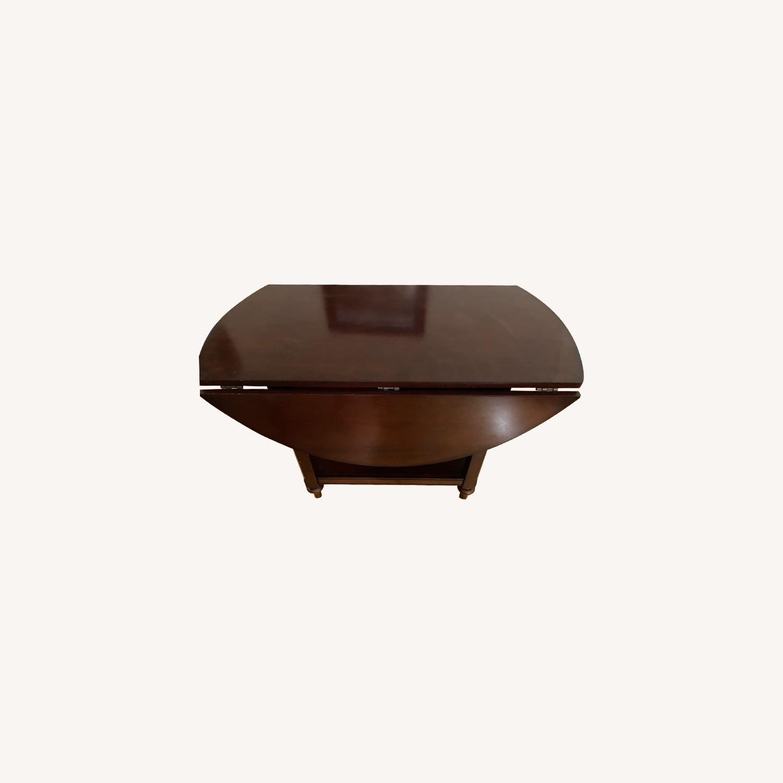 Pottery Barn Dark Wood Table - image-0