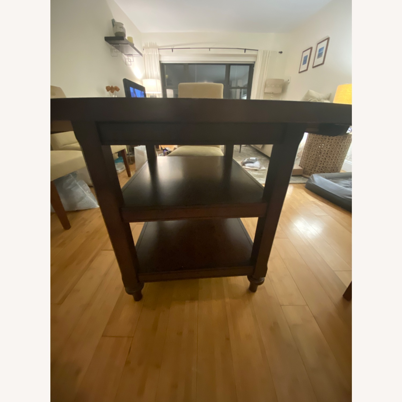 Pottery Barn Dark Wood Table - image-2