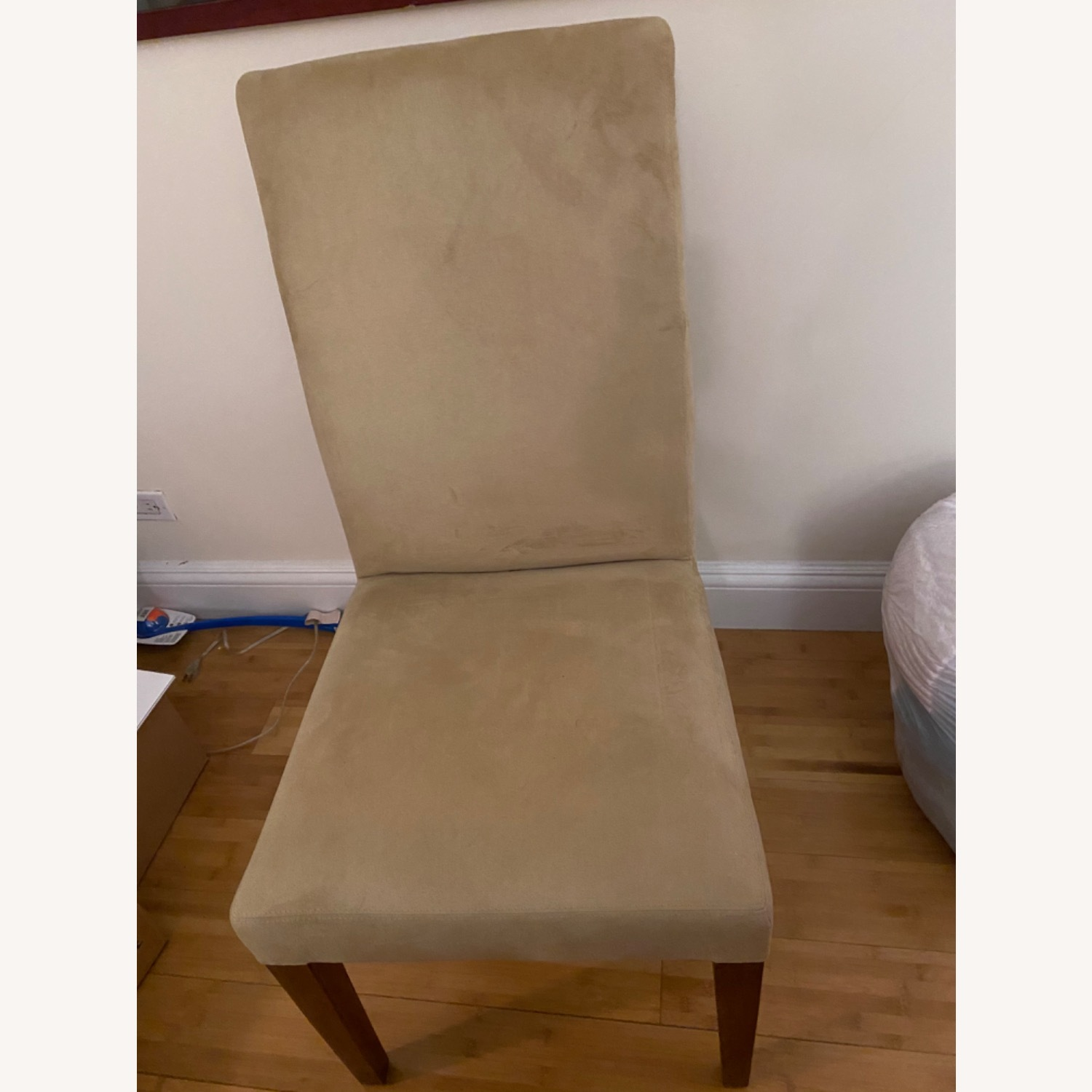 Pottery Barn Suede Chairs - image-1