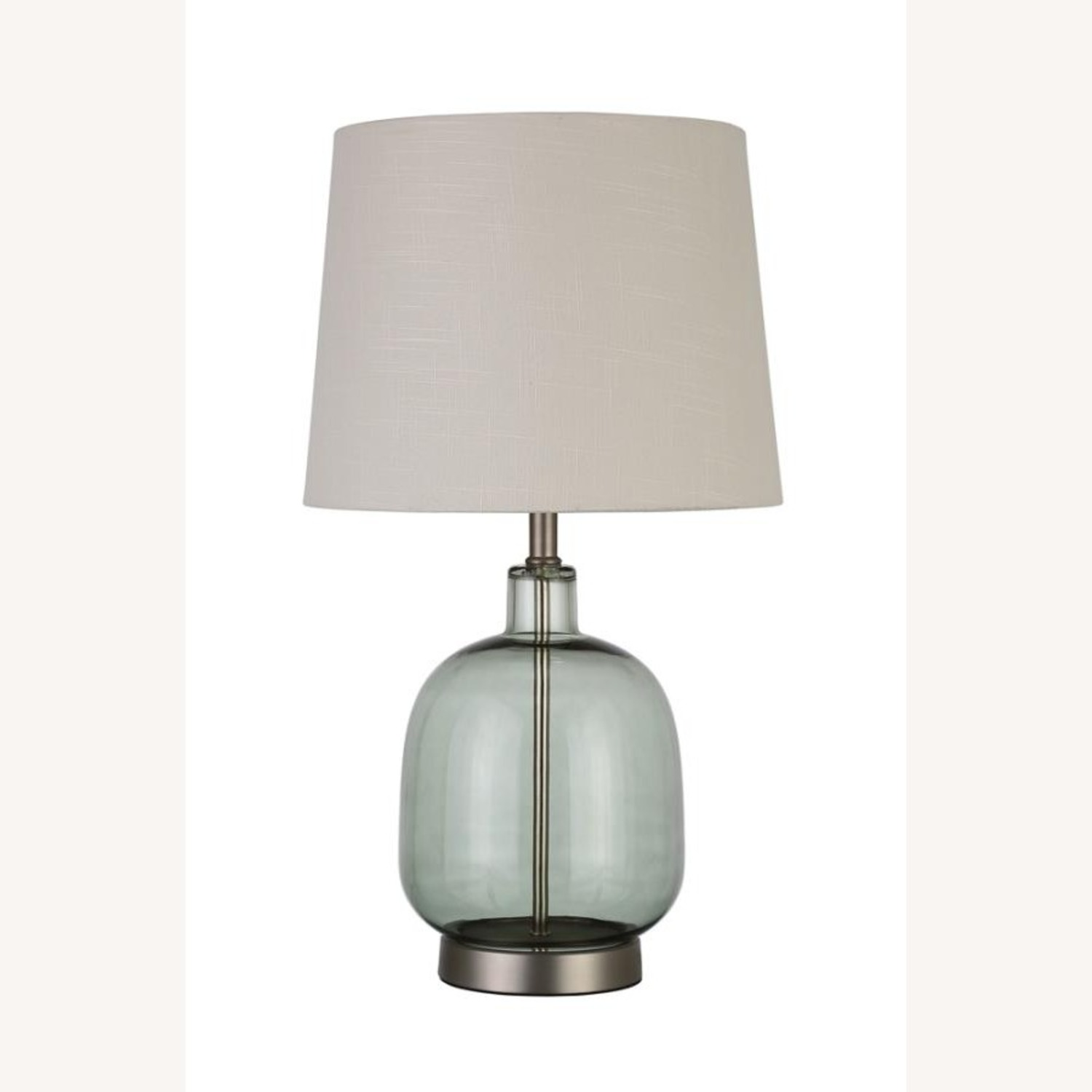 Table Lamp In Transparent Green Glass Body - image-1