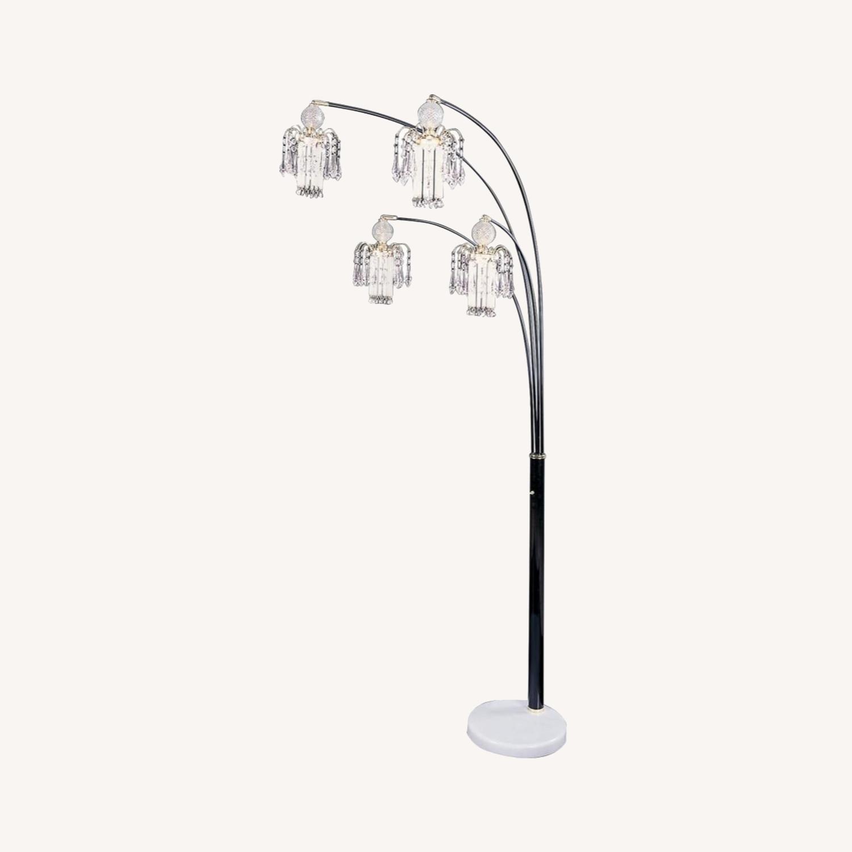 Floor Lamp In Black Finish Metal Frame - image-3