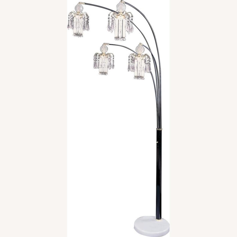 Floor Lamp In Black Finish Metal Frame - image-0