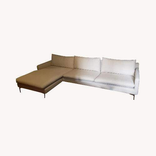 Used Nuevo Sand Colored Oversized Sectional for sale on AptDeco