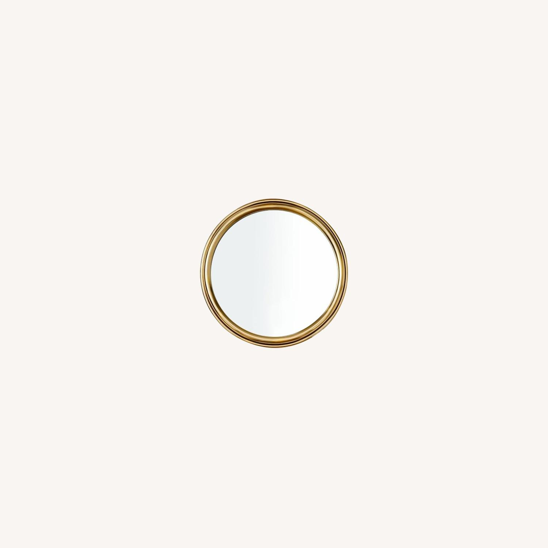 West Elm Avalon Metal Mirror - Antique Brass - image-0