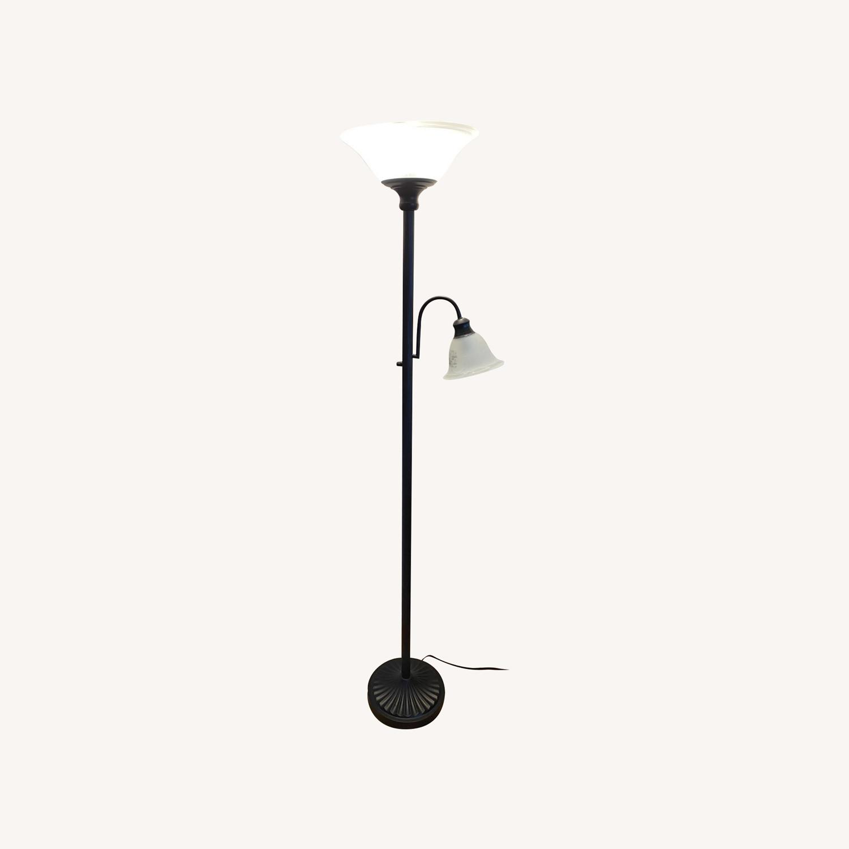Sleek Floor Lamp with Two Heads - image-0