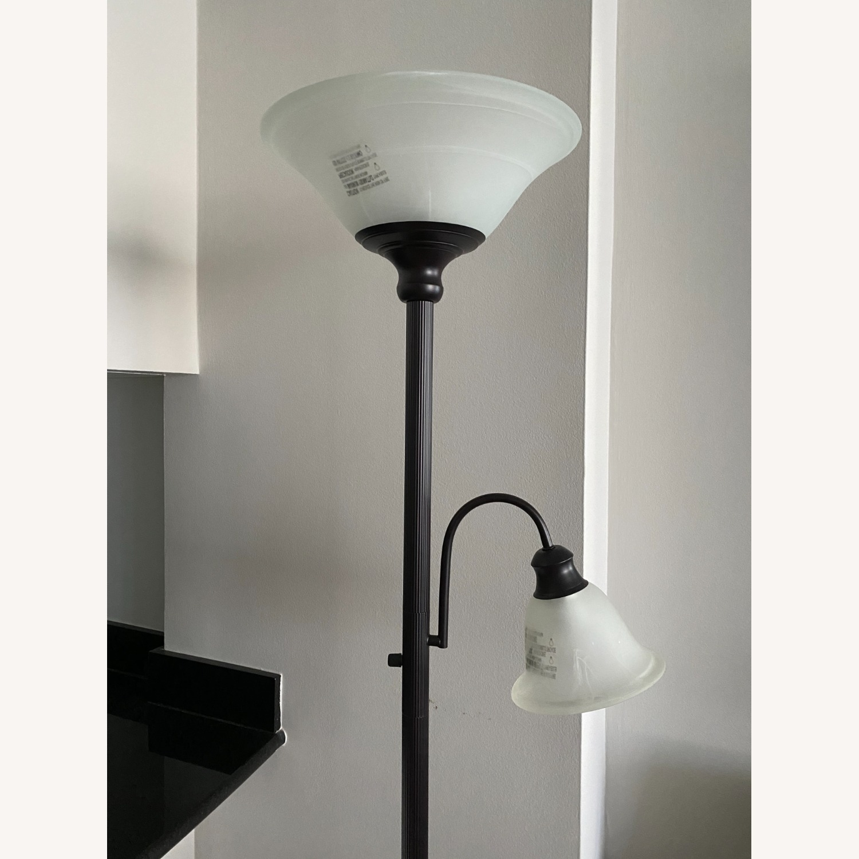 Sleek Floor Lamp with Two Heads - image-3